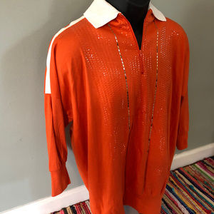 Vintage Tops - 1970s Disco Sequin Shirt Dance Sparkle Shine USA
